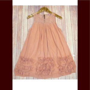 Forever 21 sz m peach top tunic sleeveless dress